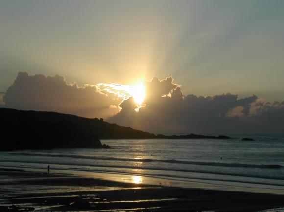 Sun sets on St Ives